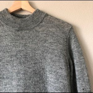 H&M Gray Turtleneck Long Cozy Sweater Small